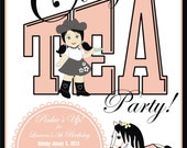Cowgirl Tea Party Invite