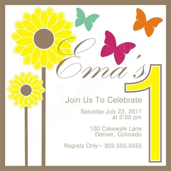 Invitation: Sunflowers & Butterflies by Cakewalk