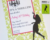Printable Invitations- Thriller Halloween Party by Bloom
