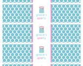 Printable Water Bottle Labels- Sparty by Bloom