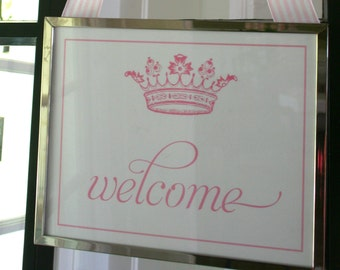 Crown Welcome Sign- Princess Party by Bloom