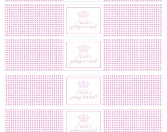 Printable Water Bottle Labels- Princess Party by Bloom