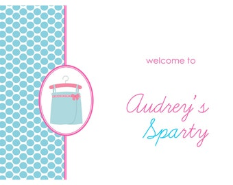 Printable Personalized Welcome Sign- Sparty by Bloom