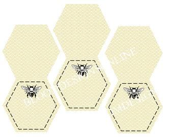 Printable Labels- Baby Bee by Bloom
