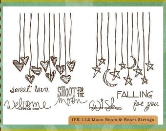 Moon Beam & Heart Strings Stamp Set