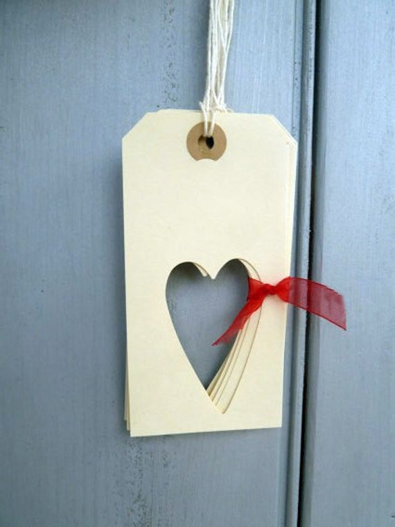 Handmade Heart Gift Tag Gift Wrapping Large Manilla Tags Love label thank you note supplies