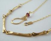 Gold sticks necklace 14K gold filled necklace