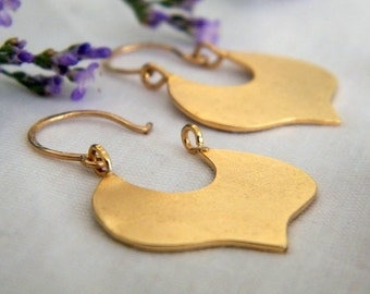 Leaf gold earrings leaf earrings
