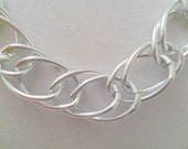 Silver Chain Necklace. Bold Chain Necklace. Thick Chain Necklace