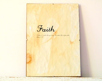 Vintage look Wall Decor, Poster, Sign - Faith