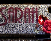 """Crystal Bling Case Available for 5S 5C 5 4S 4 Handmade with SWAROVSKI ELEMENTS by OMG Crystals - """"Your Name In Lights"""""""