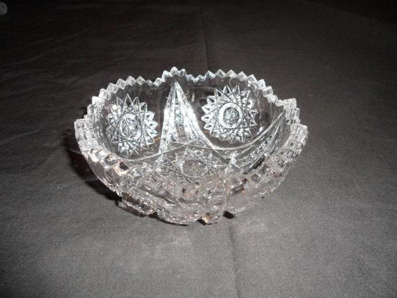 Vintage Crystal Nut Dish