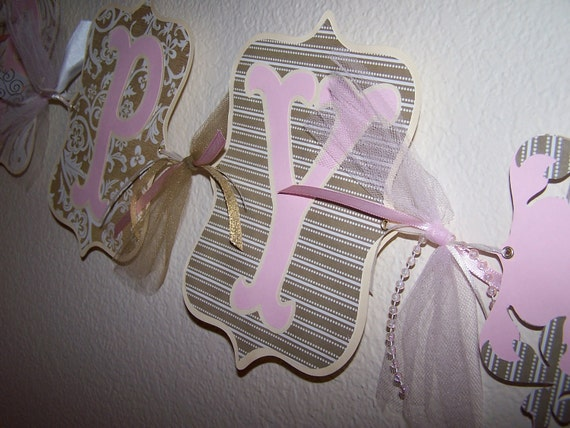 Happy Anniversary Banner Golden Gold Pink 50th Wedding Party Reception Decor