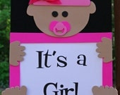 It's a Girl Door Sign - Welcome Baby, Girl Baby Shower, Baby Decoration, Baby Girl, Hospital Sign
