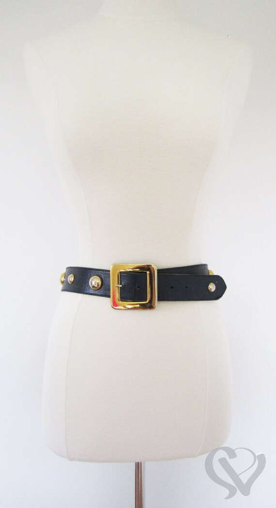 Vintage Funky Nautical Navy and Gold Belt