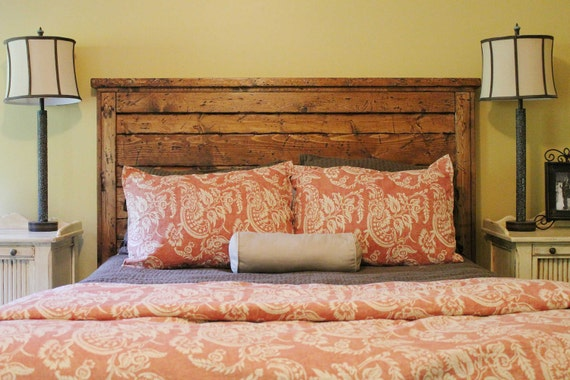 King Reclaimed Wood Headboard
