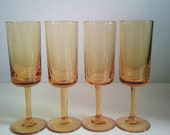Vintage Yellow  Aperitif / Sherry Glasses