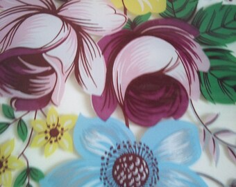 Vintage Floral Glass Plate