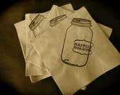 Mason Jar Wedding Cocktail Napkins