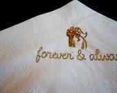 Vintage Bride & Groom Wedding Cocktail Napkins - 2012 Design