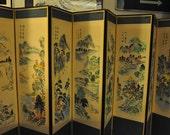 Large Vintage Oriental Changing Screen