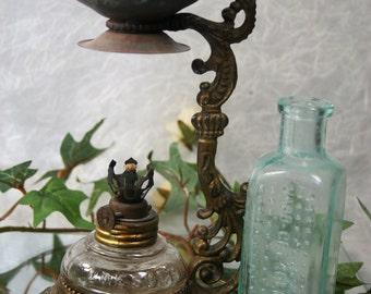 Antique Vapo -Cresolene Lamp with Bottle