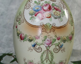 F & Sons Transfer Print Small Vase- Antique