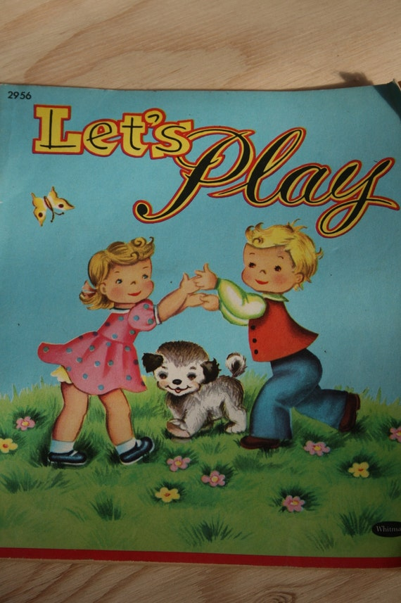 Vintage 1953 Whitman-Lets Play Activity Book
