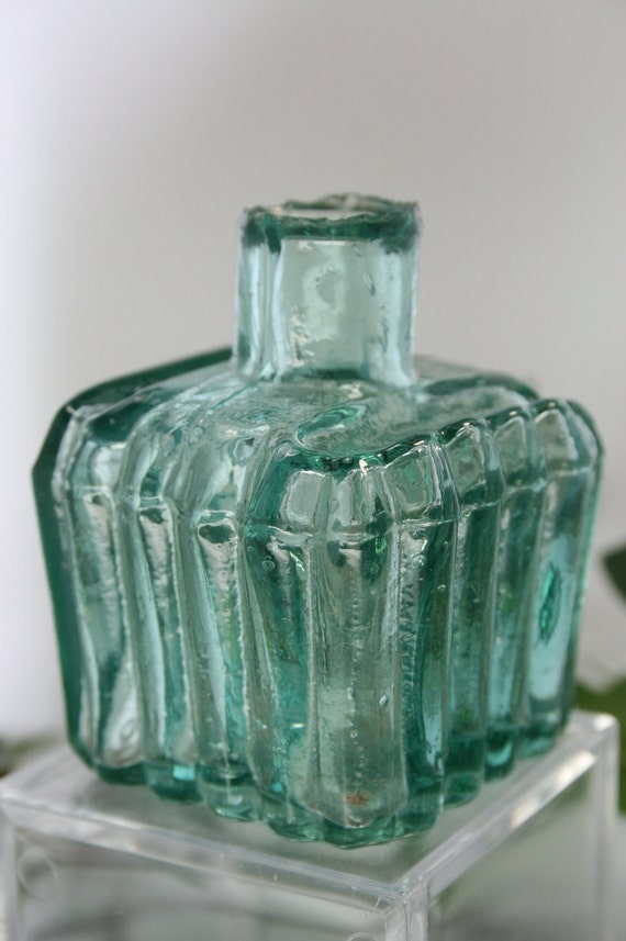 Antique Sheared Top Glass Ink Bottle