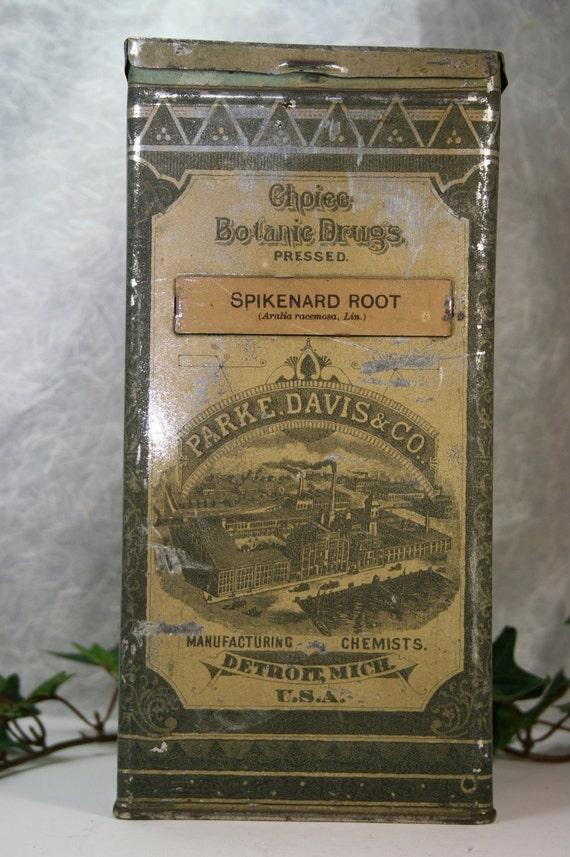 Antique Parke Davis Amp Co Drug Tin By Csforevervintage On Etsy