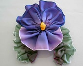 French Ribbon Flower -Vintage Inspired Pansy