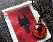 SPRING SALE - Wolf Spirit Animal Necklace.