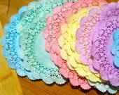 Doilies - Hand Dyed Paper Doilies - Pastel Rainbow Doily Collection