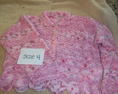 Childrens handmade knitted sweater Size 4