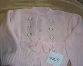 Childrens handmade knitted sweater Size 5