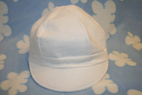 White Linen Newsboy Hat, Newborn to 4 years, Christening, Baptism, Dedication, Special Occasion