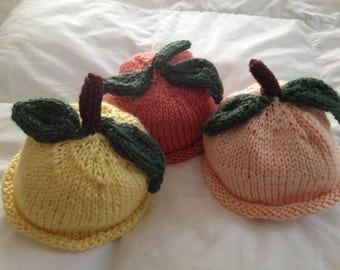 Hand knit Baby Hat - Garden Colors Baby Hats
