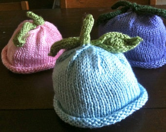 Hand knit Baby Hat - Colors of the Garden Baby Hats