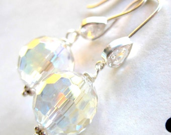 Mystic quartz earrings with sterling earwires --She's a Rainbow--