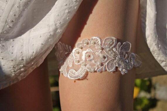 Embellished Lace Bridal Garter