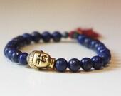 Blue Lapis Buddha Bracelet