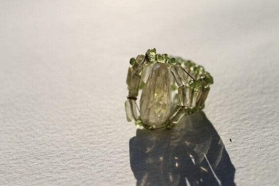 Natural Citrine, Peridot, Energy Healing ring,size 7-8.5