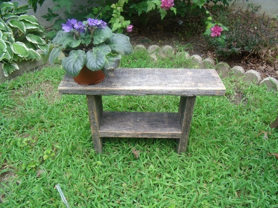 Rustic Small Wooden Bench Farmhouse Or Country Decor All