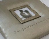 Wedding Frame (Padded) - Hand Stretched Painted Canvas with Embossed Quote