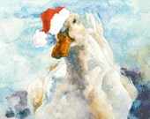 """Christmas Note Card """"A Watched Duck Never Quacks"""""""