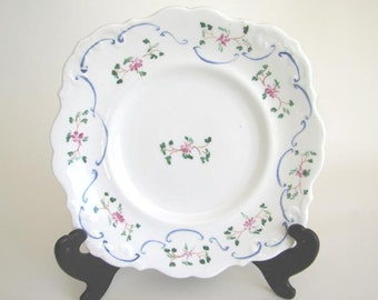 19th Century Antique Plate with Handpainted Floral Motif ON SALE