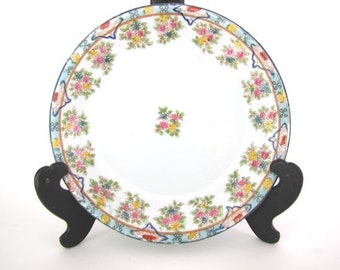 Mid-Century Japanese Handpainted Floral Motif  Plate