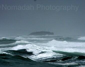 Shipwreck in the Mist, Wild Ocean, Stormy Sea, Rough ocean waves, Dark storm and ocean, Green sea, fpoe