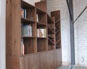 Book & Wine Shelf
