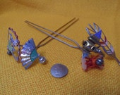 Japanese Oriental Geisha Hair Accessory Pins Picks jewelry sticks